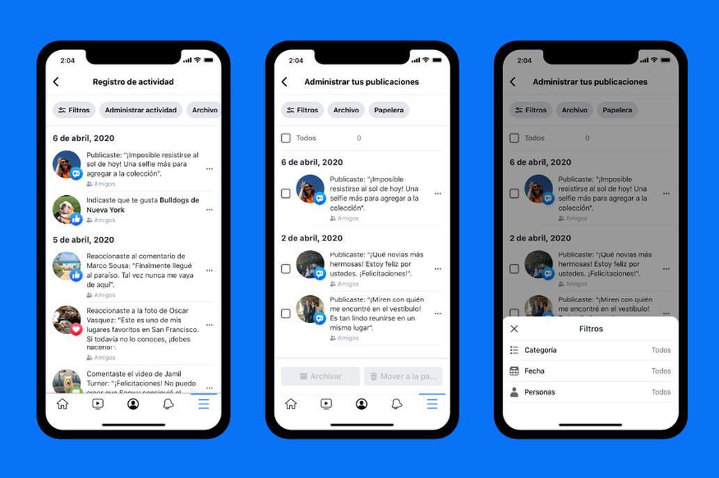 Administrar actividad: La nueva función de Facebook que permite archivar o  borrar tu pasado en la red social